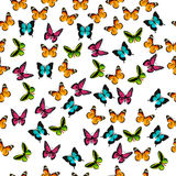 Illustration d'un papillon coloré Image libre de droits