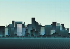 Illustration d'un paysage urbain Image stock