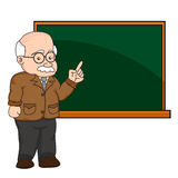 Illustration d'un professeur ou d'un professeur à un tableau Image stock