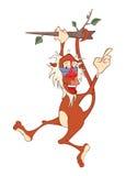 Illustration d'un singe mignon mandrill le chef heureux de crabots mignons effrontés de personnage de dessin animé de fond a isol illustration de vecteur