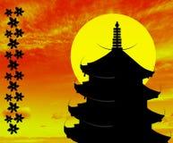 Illustration d'un temple japonais Photographie stock libre de droits