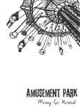 Illustration d'un tour de carrousel sur un fond blanc Image libre de droits