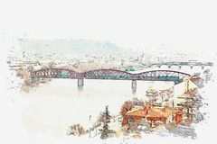 Illustration d'une belle vue de Prague Illustration Stock