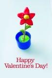 Illustration d'une carte de jour de valentines Photo stock