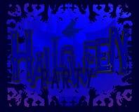 Illustration d'une carte de voeux traditionnelle de partie de Halloween photographie stock