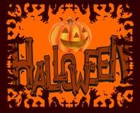 Illustration d'une carte de voeux traditionnelle de partie de Halloween photo libre de droits
