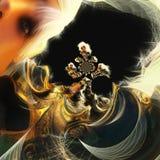 illustration 3D d'une femme d'imagination illustration libre de droits