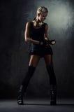 Illustration d'une fille attirante de punk de vapeur. Images stock