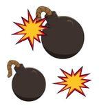 Illustration d'une icône de bombe de bande dessinée environ à éclater illustration libre de droits