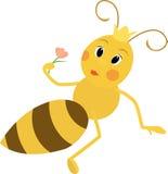 Illustration d'une reine des abeilles mignonne Photo stock