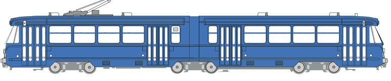 Illustration d'une tramway Photos stock