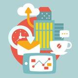 Illustration d'une vie d'entreprise quotidienne urbaine illustration libre de droits