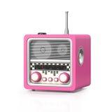 illustration 3d: Vagga - och - rullar radion på en vit bakgrund Royaltyfria Foton