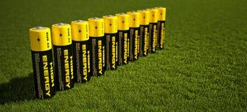 Illustration 3d von Batterien lizenzfreie abbildung