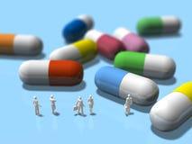 Illustration 3D von bitten um pharmazeutische Produkte Lizenzfreie Stockbilder