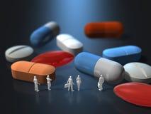 Illustration 3D von bitten um pharmazeutische Produkte Stockbild