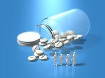 Illustration 3D von bitten um pharmazeutische Produkte Stockfotos
