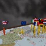 Illustration 3D von Brexit Stockfotos