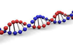 Illustration 3d von DNA-Modell Stockfotografie