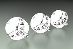 Illustration 3d von Drehbank chuks lizenzfreie abbildung