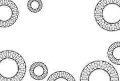 Illustration 3d von gestoßenen Nadellagern Lizenzfreie Stockbilder