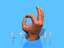 Illustration 3D von großen Händen stock abbildung