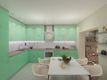 Illustration 3d von kleinen Wohnungen in den Pastellfarben Lizenzfreies Stockbild