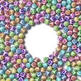 Illustration 3d von Lotteriebällen Rundschreiben sortiert stock abbildung
