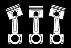Illustration 3d von Maschinenkolben Stockfotografie