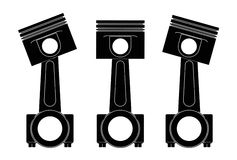 Illustration 3d von Maschinenkolben Stockbilder