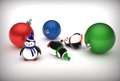 Illustration 3d von Pinguinen Stockbilder