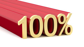 Illustration 3D von Prozentsatz 100 Stockfotos