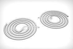 Illustration 3d von Rohrschlangen Stockfotografie