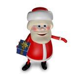 Illustration 3D von Santa Claus mit Geschenken Lizenzfreie Stockfotografie