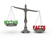 Tatsachen 3d und Mythen auf Skala Lizenzfreie Stockfotografie