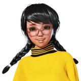 Illustration 3D von Toon Girl vektor abbildung