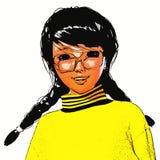 Illustration 3D von Toon Girl Lizenzfreie Stockbilder