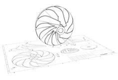 Illustration 3D von Turbo-Antreiber vektor abbildung