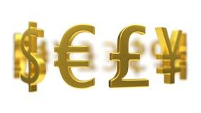 Illustration 3d von Währungszeichen Lizenzfreie Stockbilder