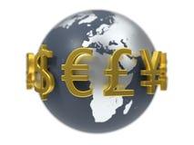 Illustration 3d von Währungszeichen Lizenzfreie Stockfotografie