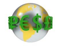 Illustration 3d von Währungszeichen Stockbilder