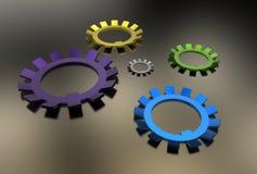 Illustration 3d von Waschmaschinen Lizenzfreies Stockbild
