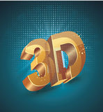 Illustration of 3D word in golden glass Royalty Free Stock Image