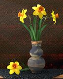 Illustration daffodils in a vase Stock Image