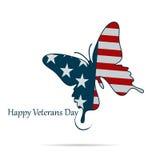 Illustration dagen av veteran USA på en vit bakgrund Royaltyfri Foto