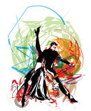 Illustration of dancers Stock Images