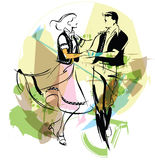 Illustration of dancers Stock Photography