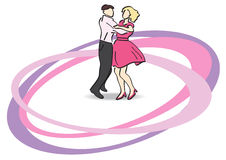 Illustration - dancers on the dancefloor - eps Stock Image