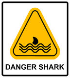 Illustration of a danger signal icon with a shark fin Stock Photography