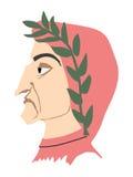 Illustration of Dante Alighieri. Vintage series Stock Image